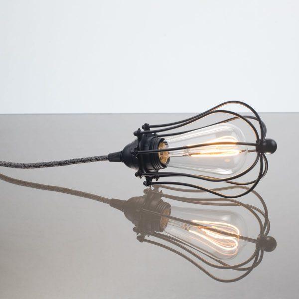 kelvin et lumen luminaires applique baladeuse déco abat-jour métal cordon noir et lin ampoule LED Edison chambre salle de bains véranda séjour entrée