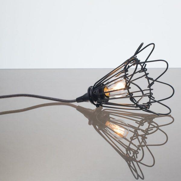 kelvin et lumen luminaires applique baladeuse déco abat-jour corolle métal cordon gris paillettes ampoule led chambre salle de bains véranda séjour entrée