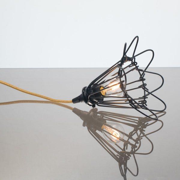kelvin et lumen luminaires applique baladeuse déco abat-jour corolle métal cordon or paillettes ampoule led chambre salle de bains véranda séjour entrée
