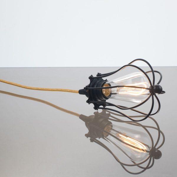 kelvin et lumen luminaires applique baladeuse déco abat-jour métal cordon or paillettes ampoule LED Edison chambre salle de bains véranda séjour entrée