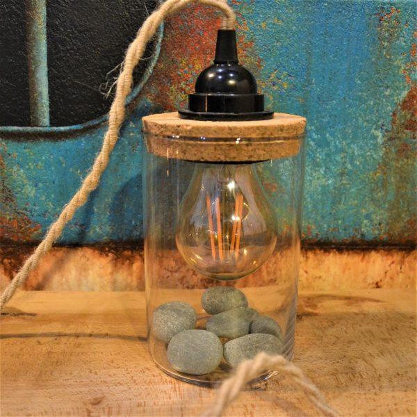 lampe bocal à poser de créateur customisable personnalisable de chevet nature