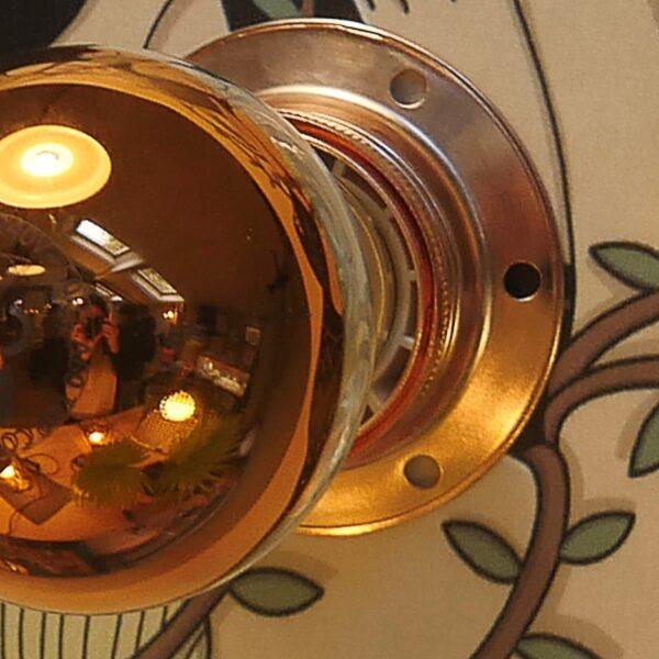ampoule lampe calotte cuivrée éclairage indirect applique de créateur bretagne 22