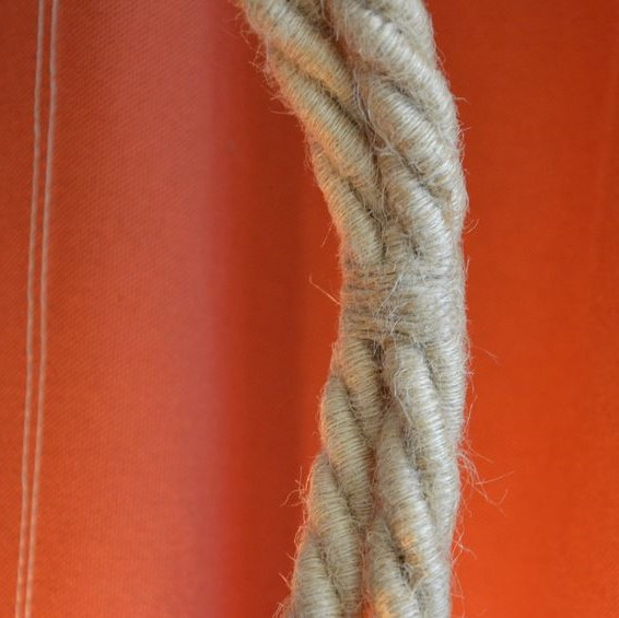cordon électrique torsadé XL jute 3 conducteurs cordage maritime industriel lampe applique