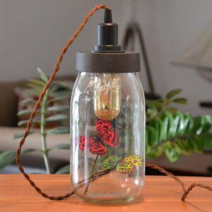 lampe bocal à poser le parfait avec douille interrupteur st décor papillons