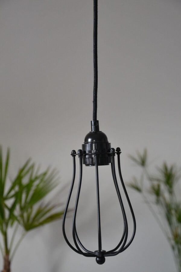 suspension industrielle noire cage